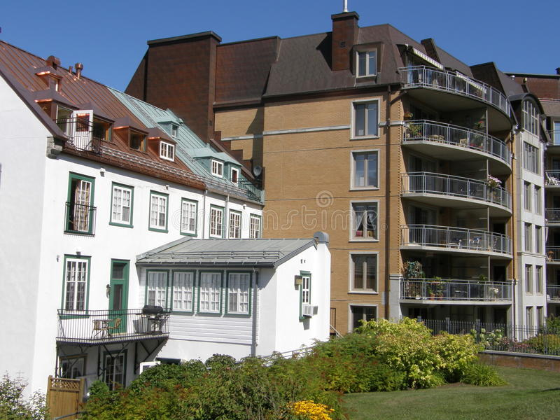 Residences in Quebec City stock images