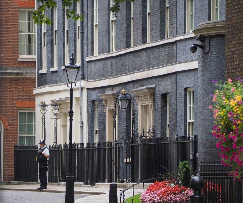Residencia de Downing Street del Primer Ministro del Reino Unido en Londres fotos de archivo libres de regalías