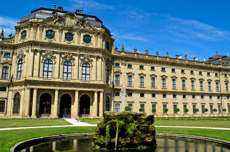 Residencia de Wurzburg en Alemania imagen de archivo libre de regalías