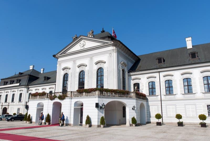 Residencia del presidente Eslovaquia imagen de archivo