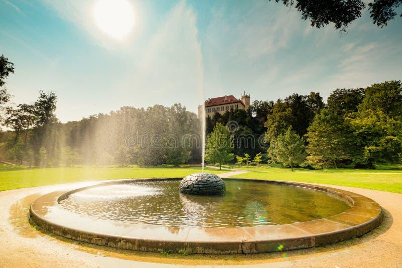 Residencia del verano del ` s del gobernador en Praga, República Checa foto de archivo