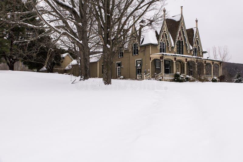 Residencia histórica abandonada - Ithaca, Nueva York fotografía de archivo libre de regalías