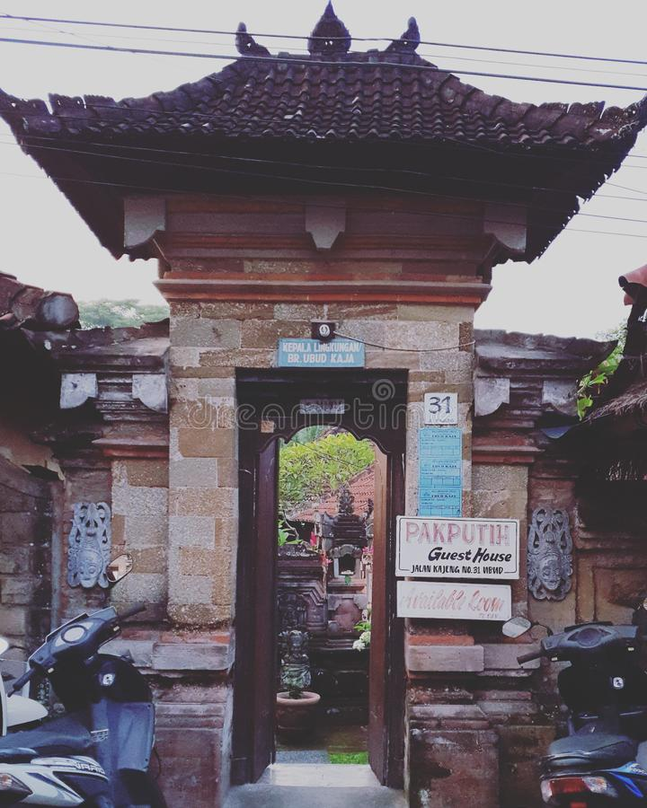 Residencial em Bali imagens de stock