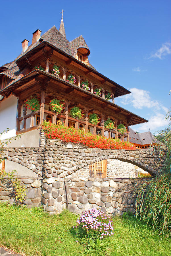 Residencial no monastério do barsana foto de stock royalty free
