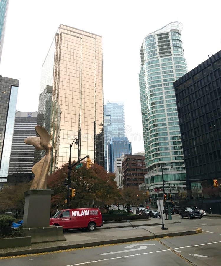 Residencias en Vancouver céntrica, Columbia Británica foto de archivo libre de regalías