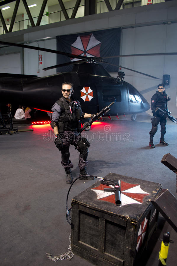 Resident Evil at Cartoomics 2014 stock image