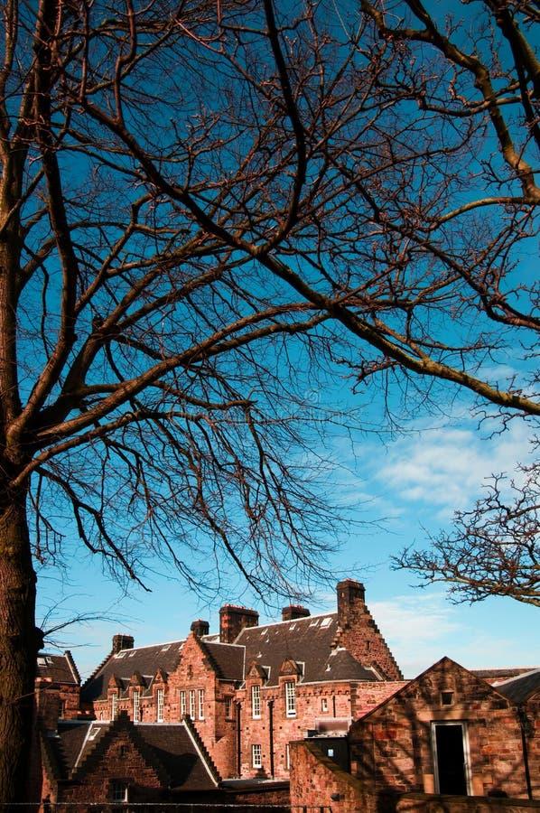 Residental budynki w Edynburg Szkocja zdjęcie royalty free