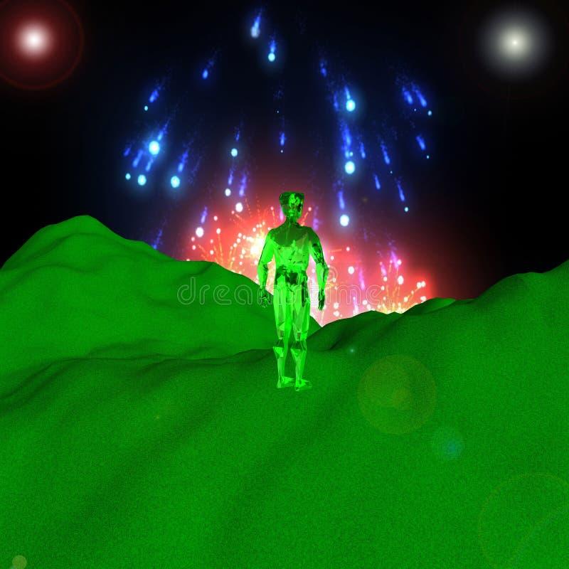 Download Residente verde stock de ilustración. Ilustración de explosión - 44852460
