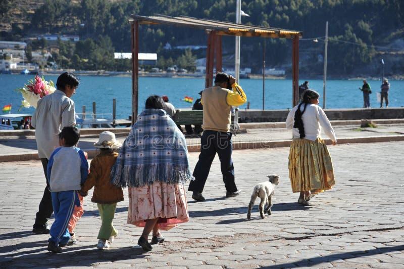 Residentes encendido de la ciudad de la calle de San Pablo imágenes de archivo libres de regalías