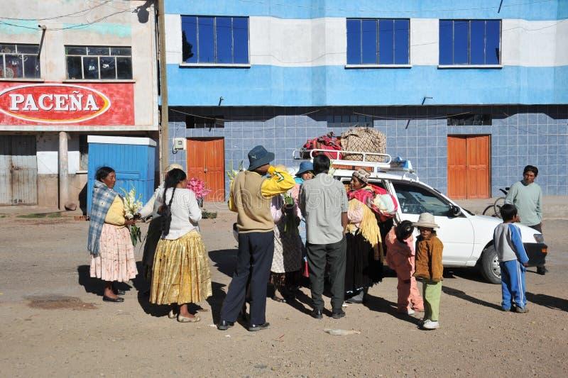 Residentes encendido de la ciudad de la calle de San Pablo fotos de archivo