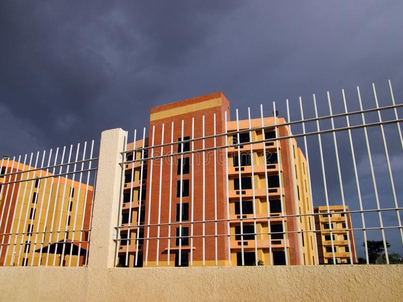 Residential apartment building stock photo