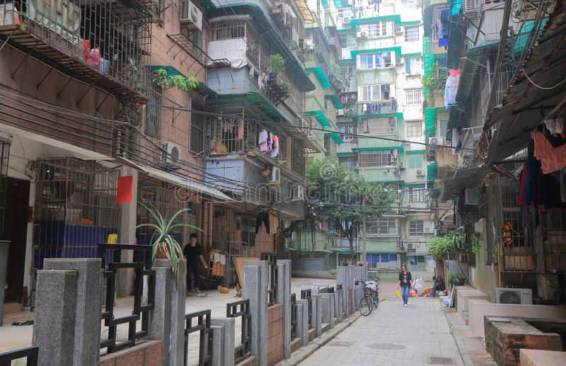 Residential apartment house Guangzhou China. royalty free stock image