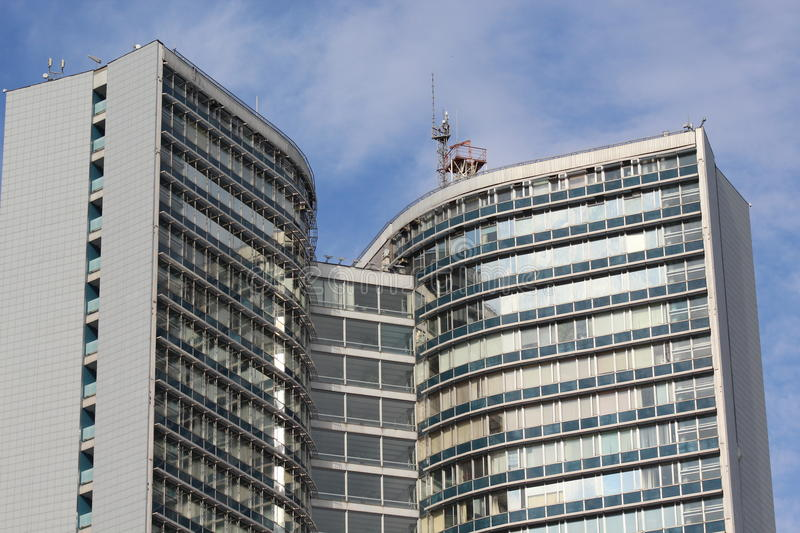 Residential architecture of the modern city of Moscow stock image
