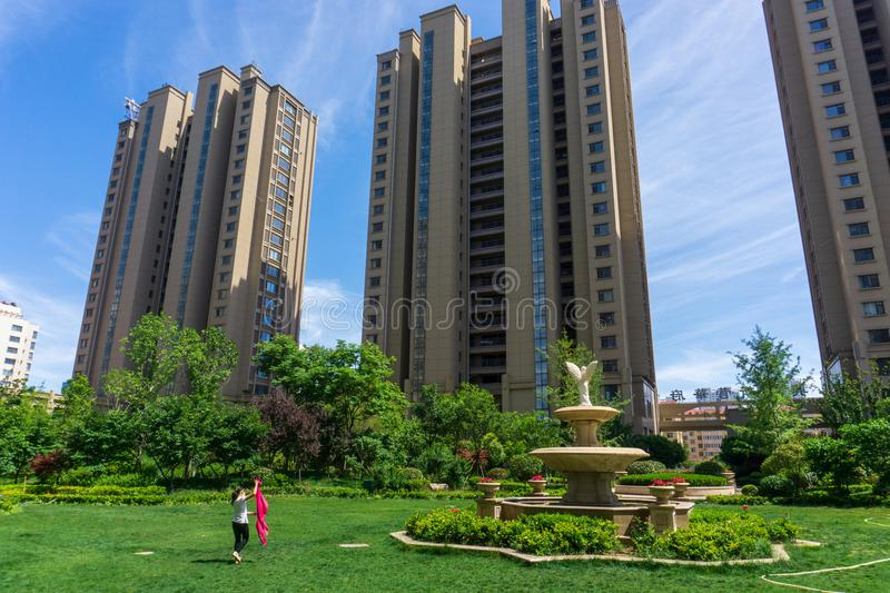 Residential area in Chinese cities stock photo