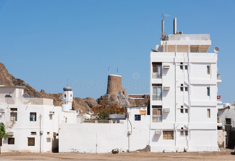 Residential area in Muscat, Oman royalty free stock photography