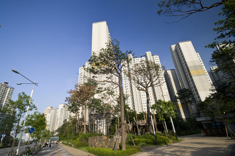 Download Residential area in Seoul stock photo. Image of homes - 15280054