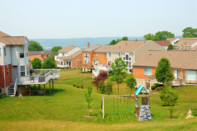 Download Residential Back Yards stock photo. Image of community - 2490942