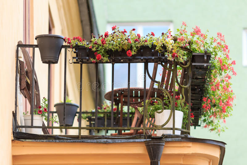 Residential balconies stock images
