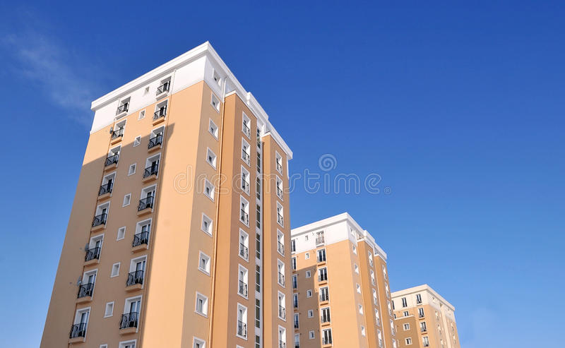 Residential Block Of Flats Stock Image
