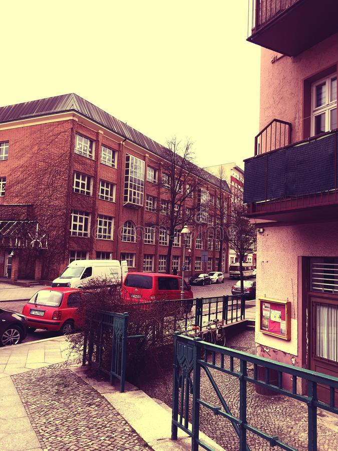 Residential building in Berlin, Germany stock images