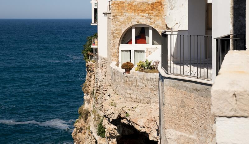 Residential building on a cliff stock photos