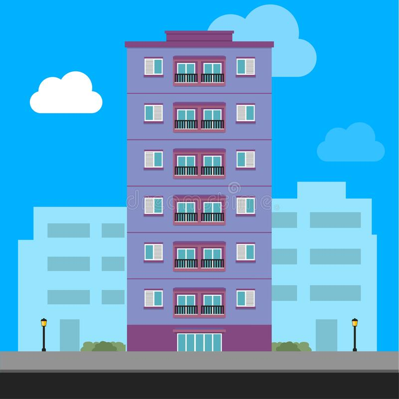 Traditional house. Family home. Flat design vector concept illustration. vector illustration