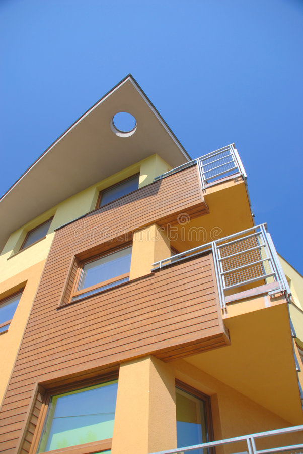 Residential building in Wroclaw Poland. royalty free stock photos