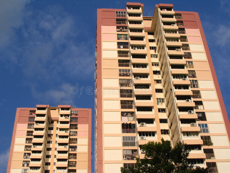 Residential Buildings Royalty Free Stock Photography
