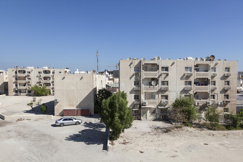 Residential buildings in Bahrain royalty free stock images