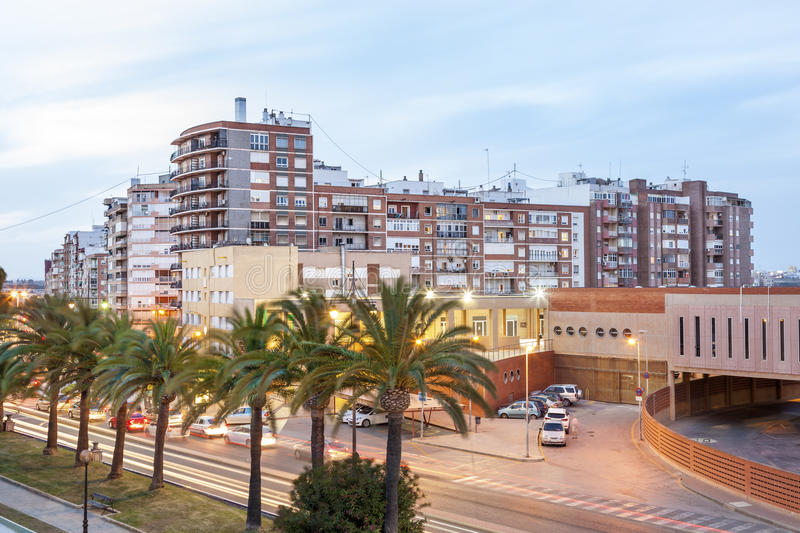 Residential buildings in Cartagena, Spain royalty free stock images