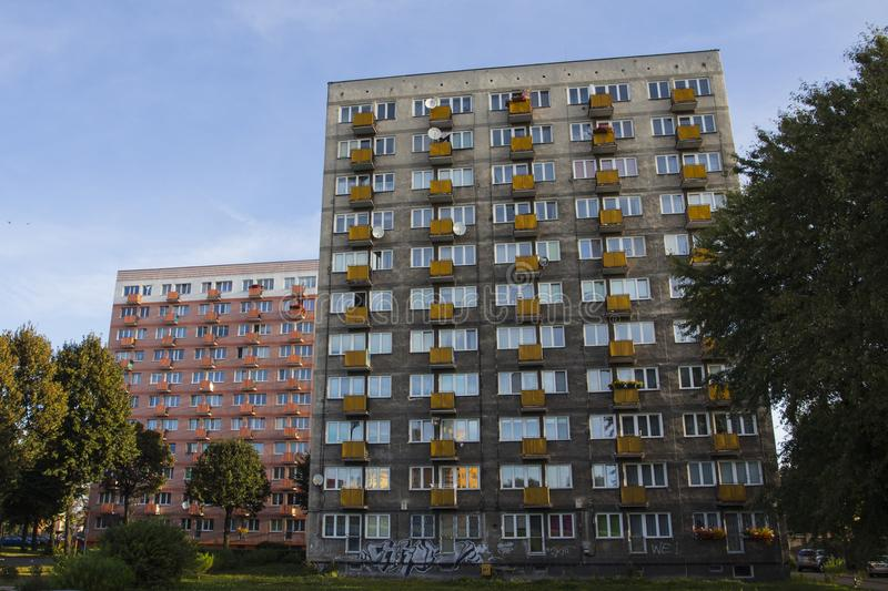 Residential buildings in Gdansk. Poland stock photos