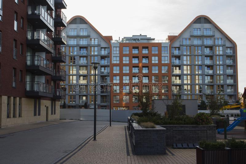 Residential buildings in Gdansk. Poland royalty free stock image