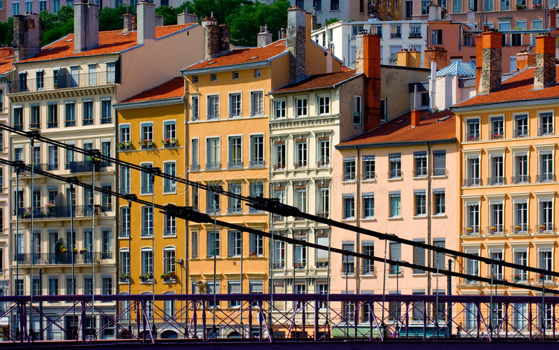 Residential buildings in Lyon, stock images