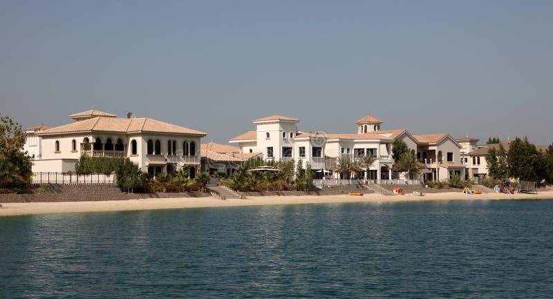 Residential buildings on Palm Jumeirah, Dubai royalty free stock photos
