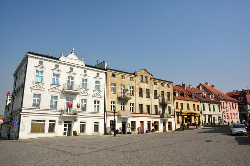 Residential buildings on Tumska street in Gniezno, Poland royalty free stock photography
