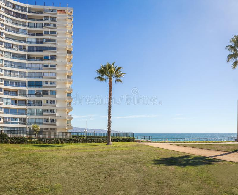 Residential Buildings at Vina Del Mar Downtown - Vina del Mar, Chile stock image