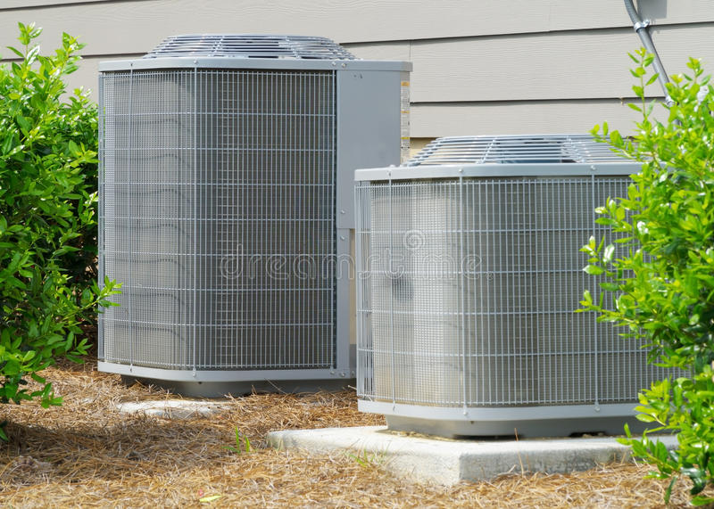 Residential A/C units royalty free stock image