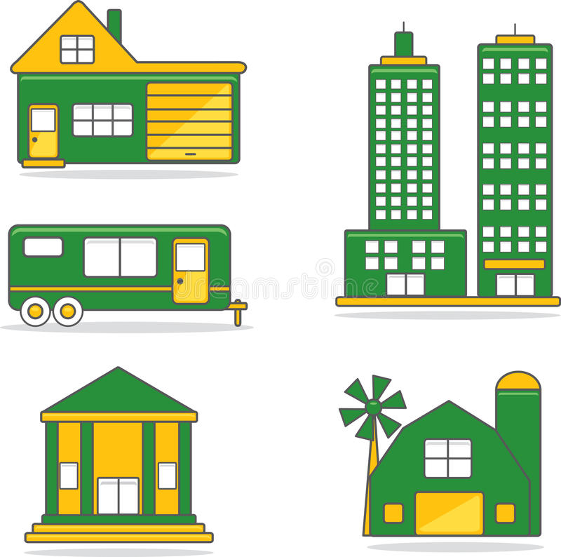 Residential/commercial Structures Stock Images