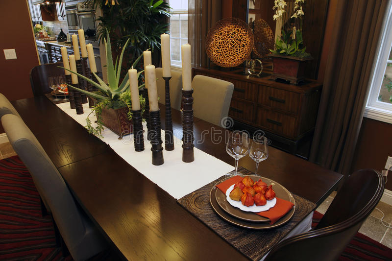 Download Residential dining room stock image. Image of dining - 12229865