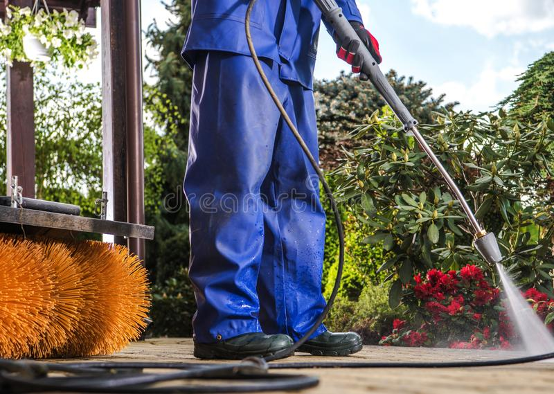 Power Water Jet Cleaning royalty free stock images