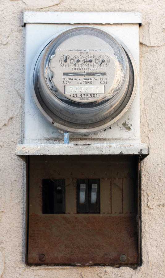 Residential Energy Meter : Residential electric meter royalty free stock photography