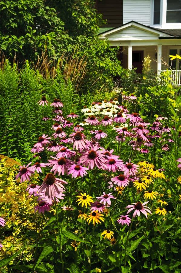 Residential garden landscaping stock photography