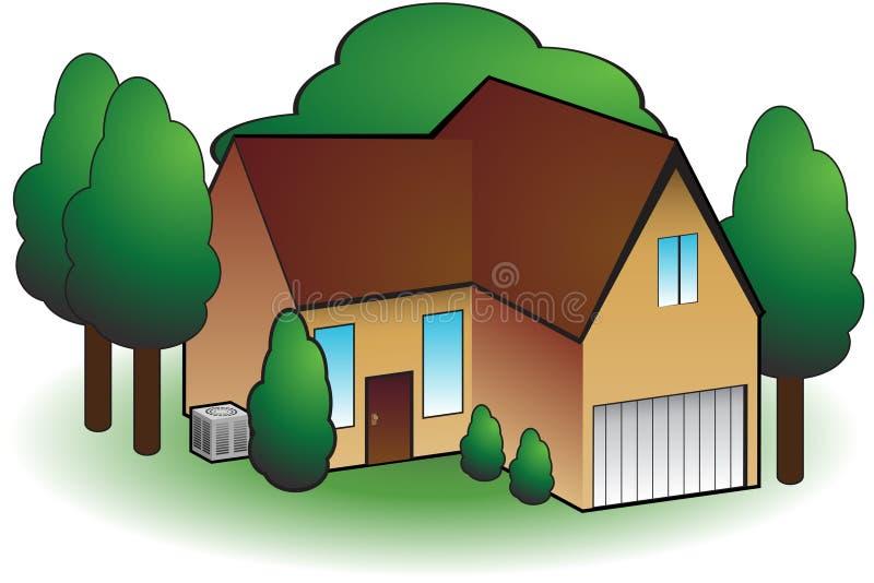 Residential Home stock illustration