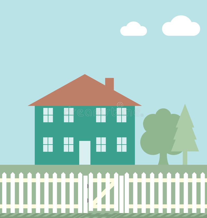 Download Residential home stock vector. Illustration of roof, estate - 16598453