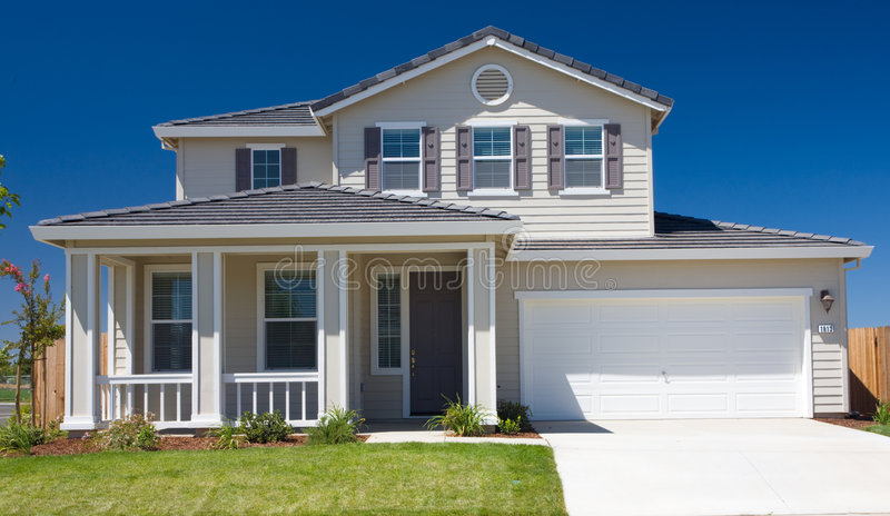 Residential home exterior front stock photos