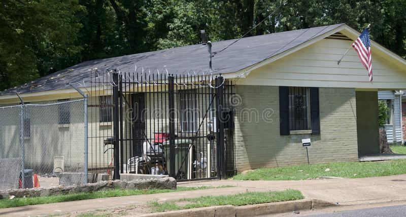 A Residential Home With Razor Wire Editorial Image - Image of ...