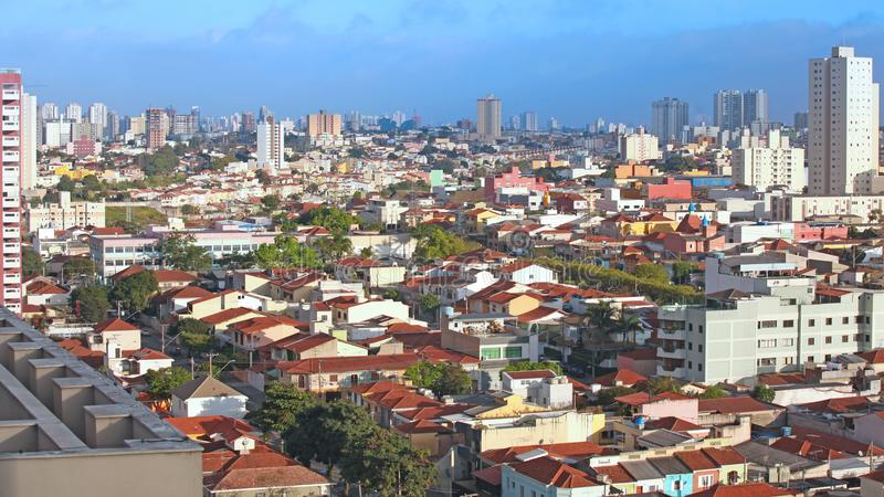 Residential homes in Sao Paulo royalty free stock image
