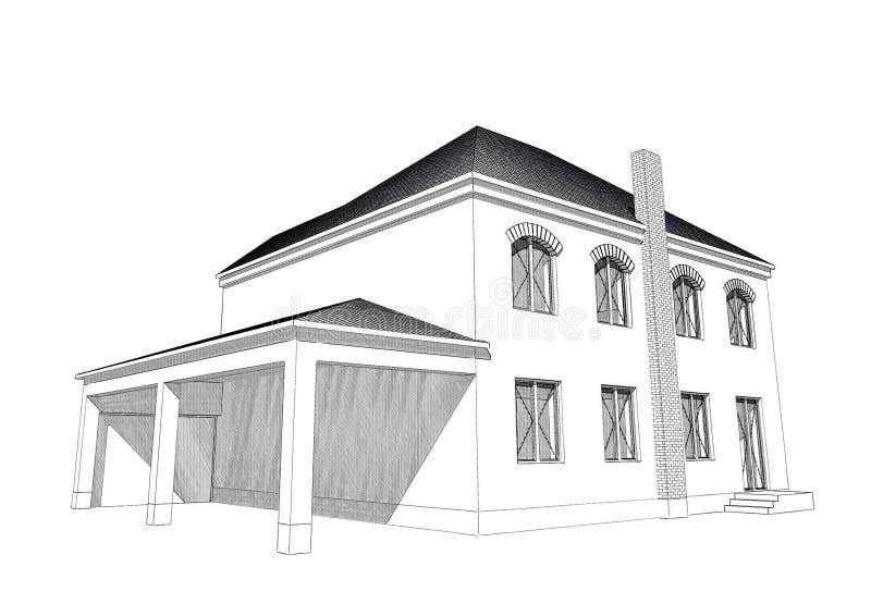 Residential House 3d Stock Illustration Image 66908121