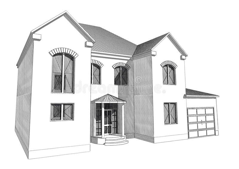 Residential house 3d stock illustration illustration of for 3d home builder software