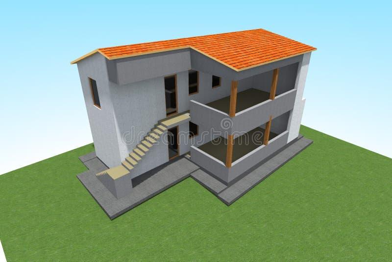 Residential house design royalty free illustration